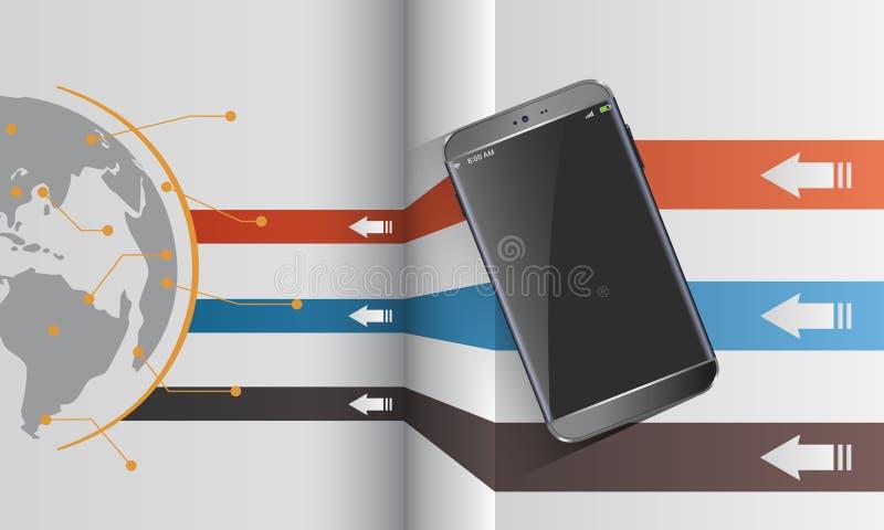 文件分享现代智能手机 皇族释放例证