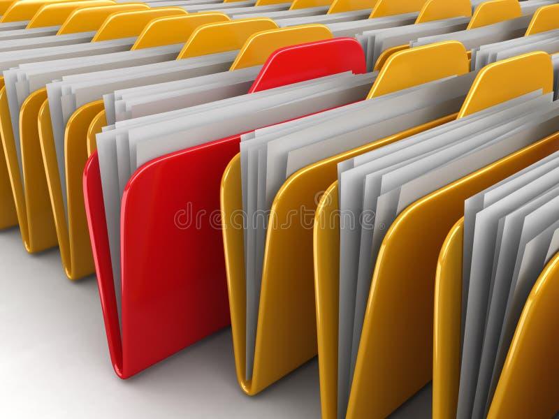 文件夹和文件 皇族释放例证