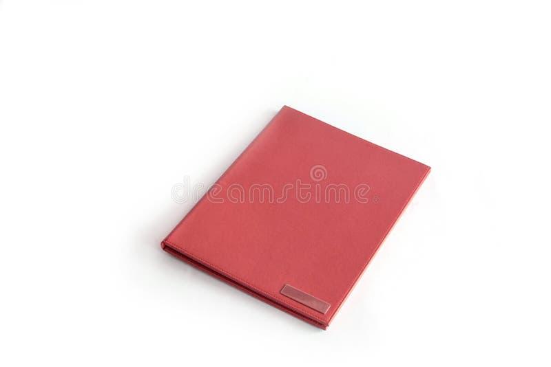 文件夹查出的红色 图库摄影