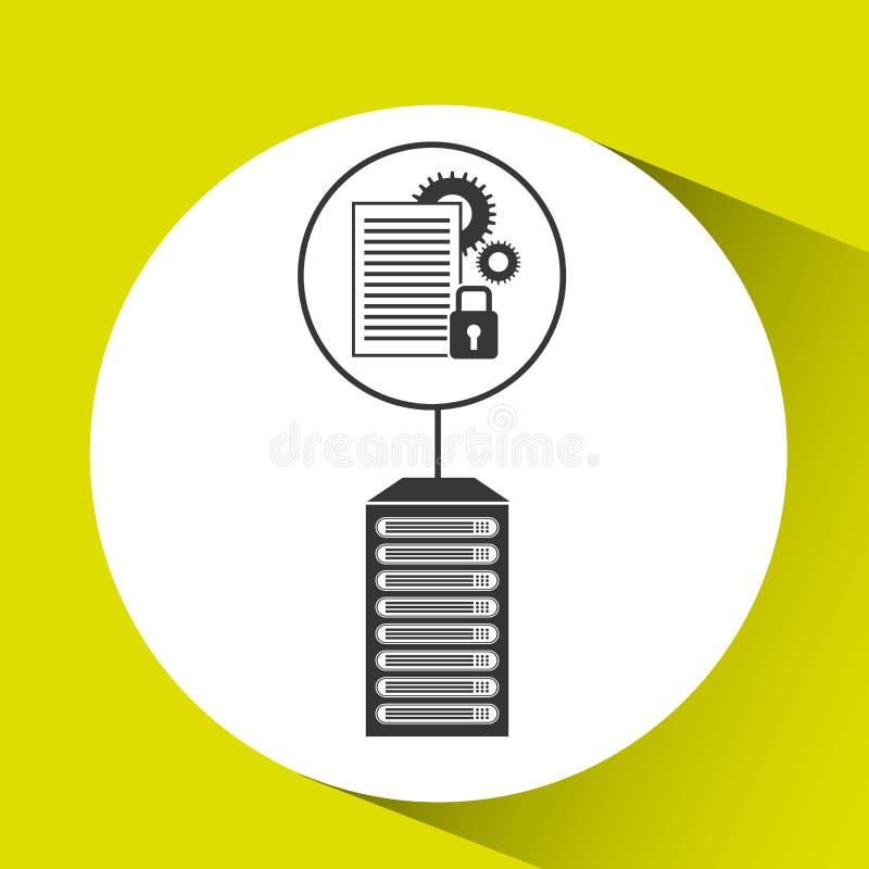 文件工作安全数据中心连接 库存例证