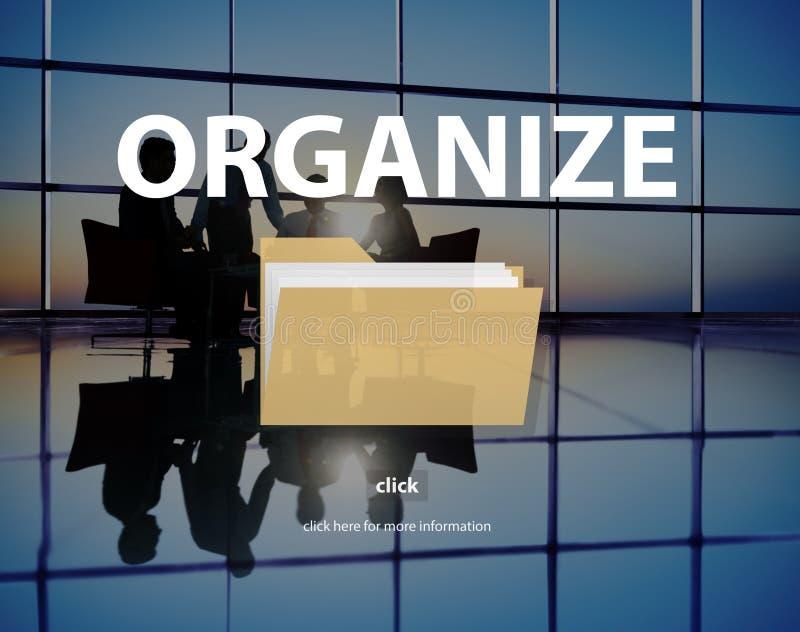 文件索引内容详述文件档案概念 免版税图库摄影