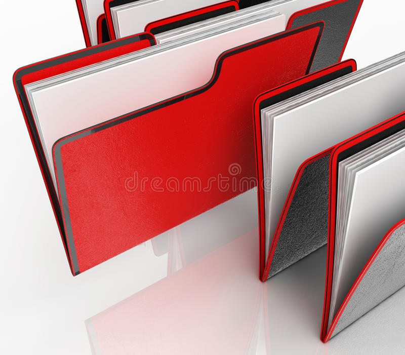 文件手段组织和文书工作 向量例证