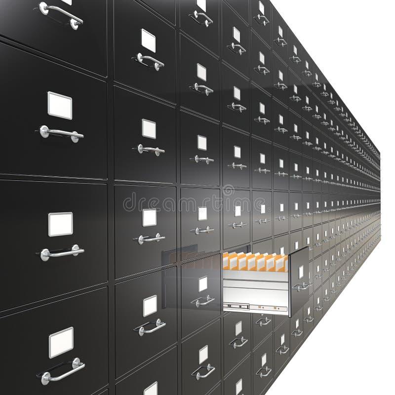 文件柜。 向量例证