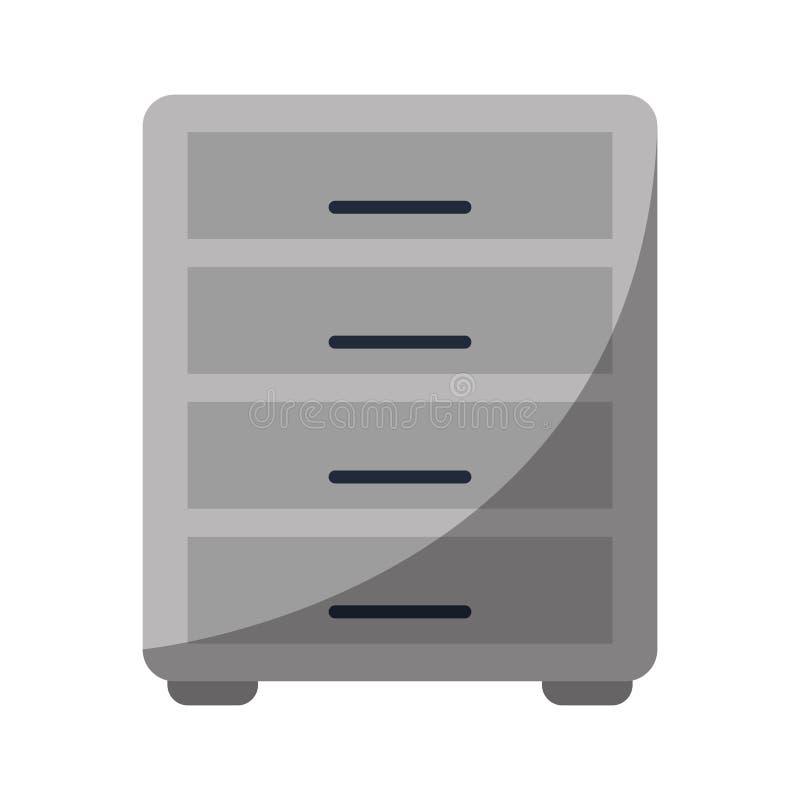 文件柜档案工作场所 向量例证