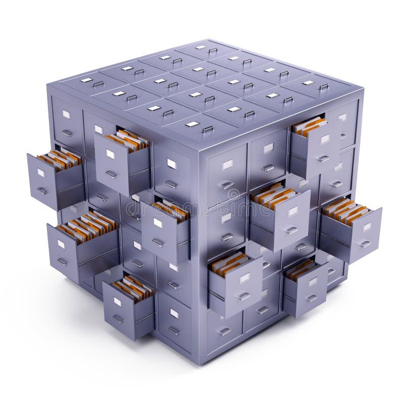 文件柜立方体 库存例证