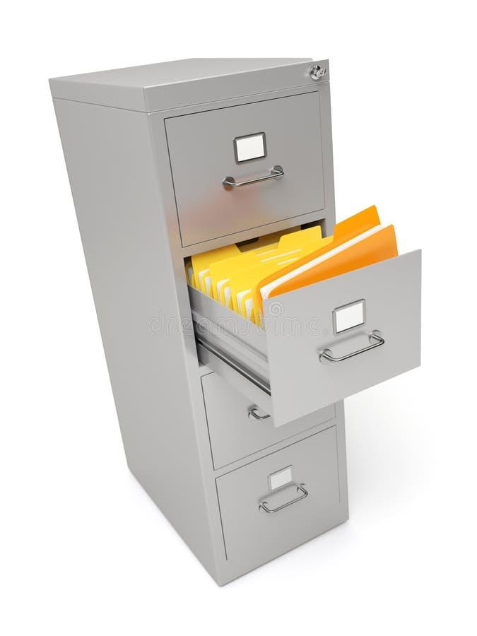 文件柜 皇族释放例证