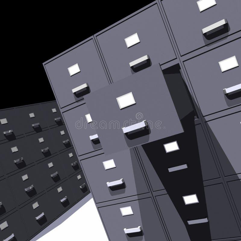 文件柜- 3D 向量例证