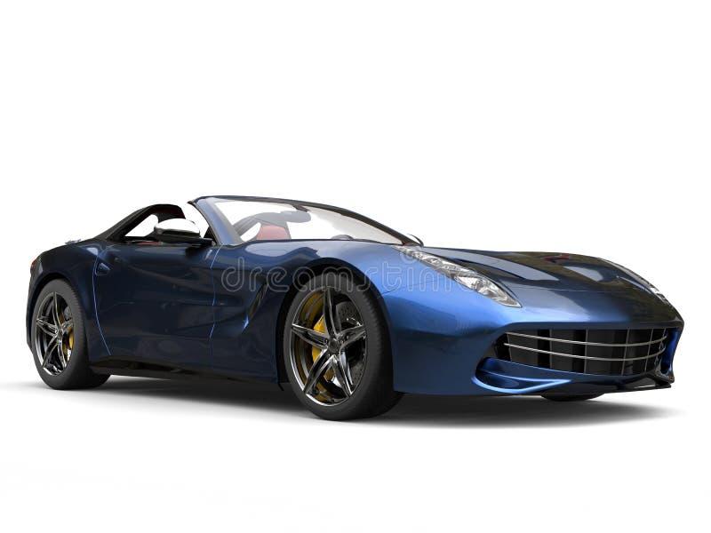 斋戒有两口气金属油漆的现代跑车-蓝色和黑色 库存例证