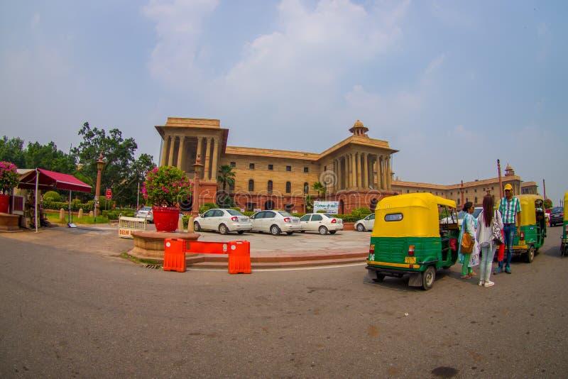 斋浦尔,印度- 2017年9月26日:Rashtrapati Bhavan美丽的政府大厦是正式家的 库存照片