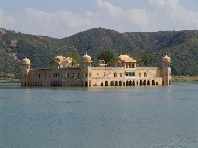 斋浦尔jal mahal宫殿拉贾斯坦水 库存照片