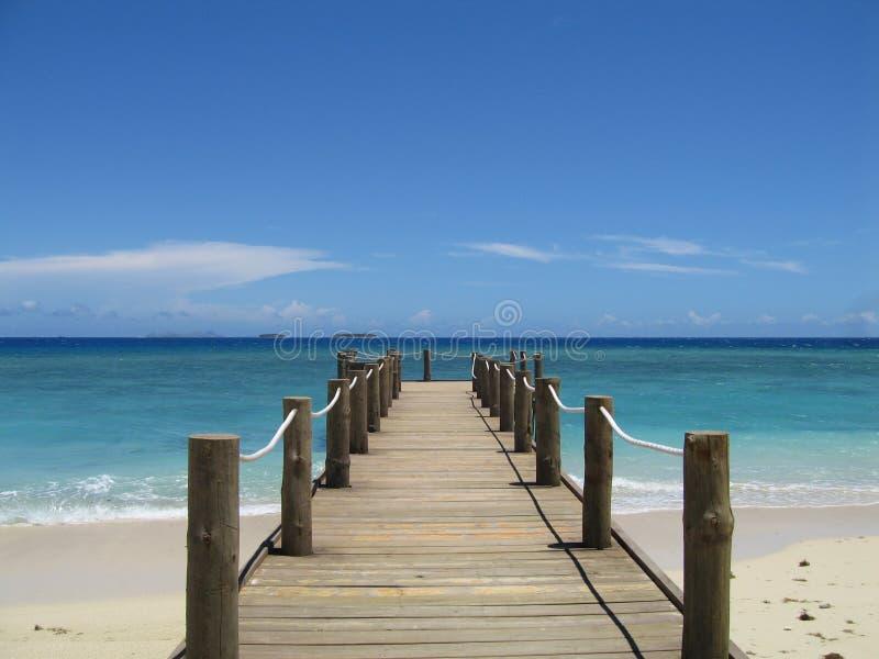斐济码头 库存图片