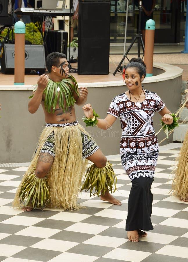 斐济舞蹈家 免版税图库摄影