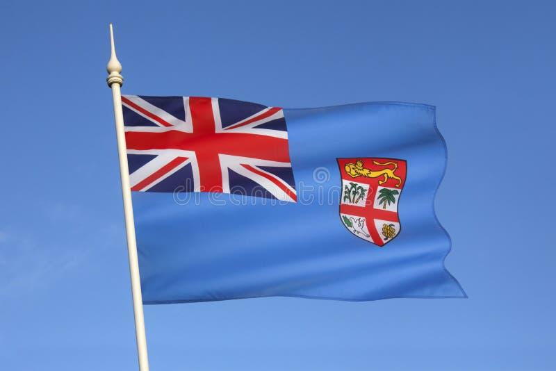 斐济-南太平洋旗子  免版税库存图片