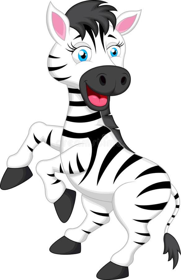 斑马动画片 向量例证