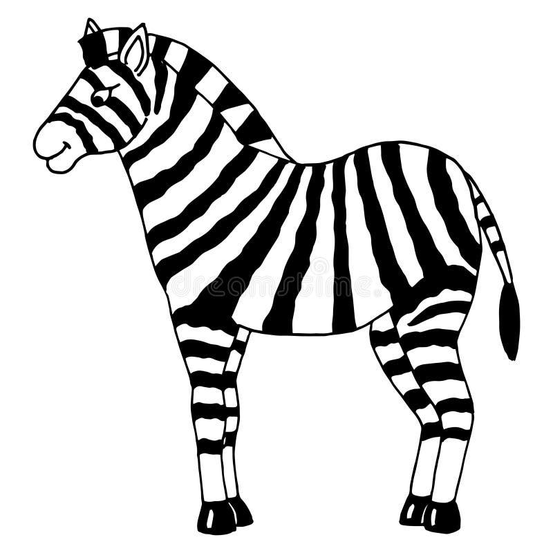 斑马 向量例证