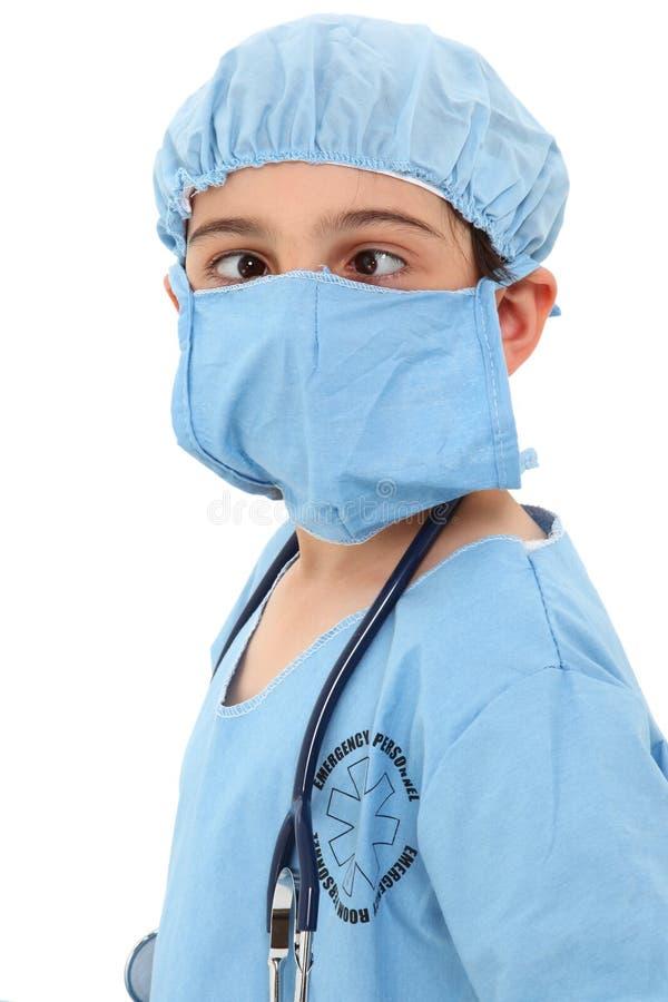 斗眼的外科医生 库存照片