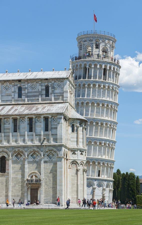 斜塔在比萨,托斯卡纳,意大利 库存照片