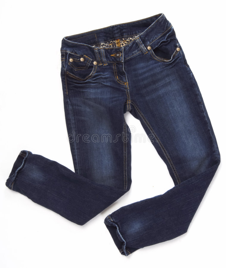 斜纹布裤子 库存照片