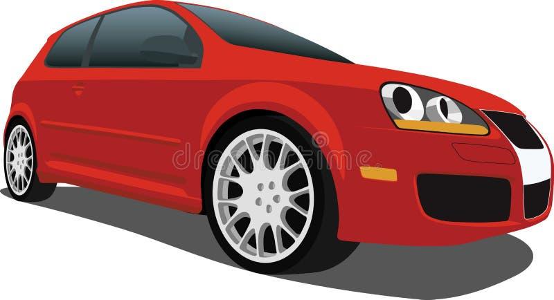 斜背式的汽车vw 皇族释放例证