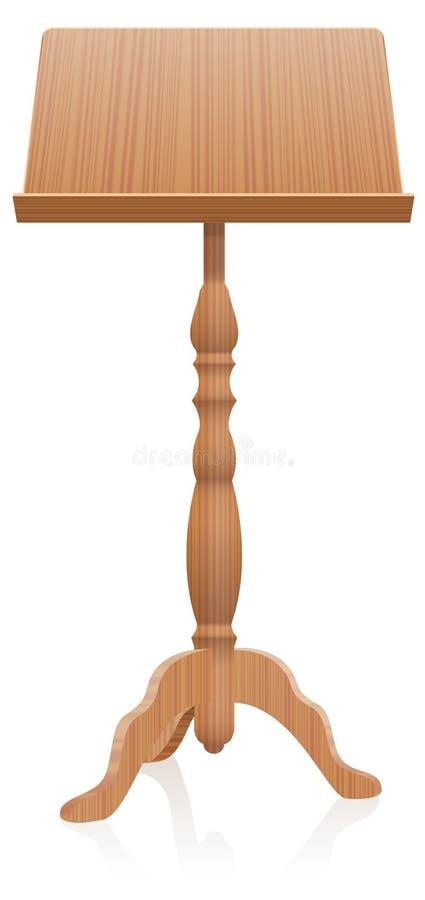 斜面书桌讲演台木样式 库存例证