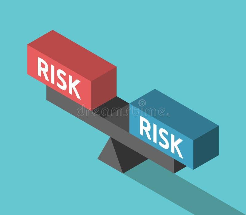 斟酌概念,平衡的风险 皇族释放例证