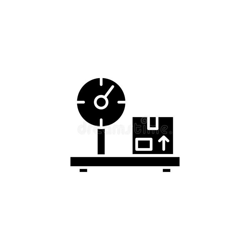 斟酌黑象概念的货物 斟酌平的传染媒介标志,标志,例证的货物 向量例证
