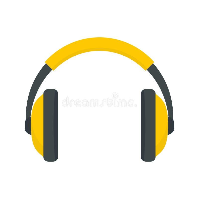 斥责耳机象,平的样式 向量例证