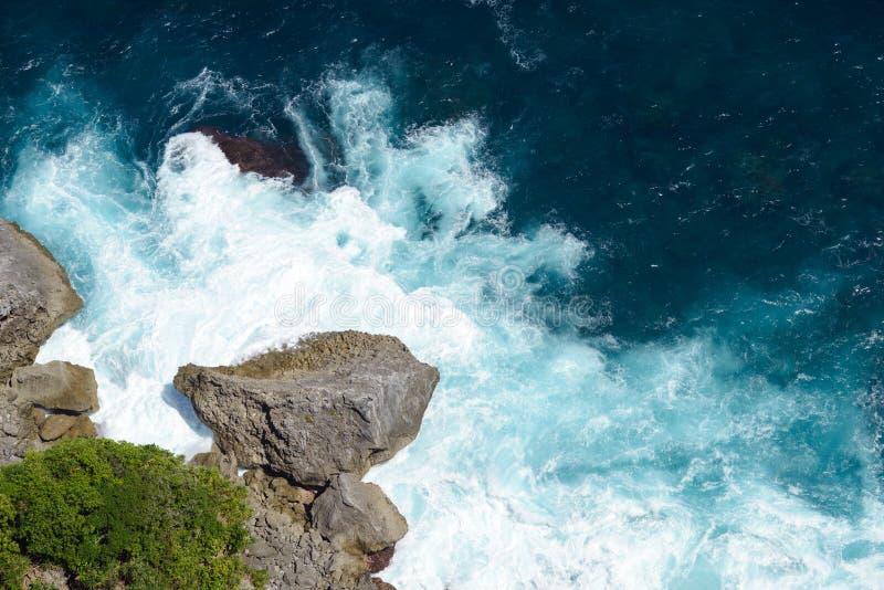 断裂海洋航拍 库存图片