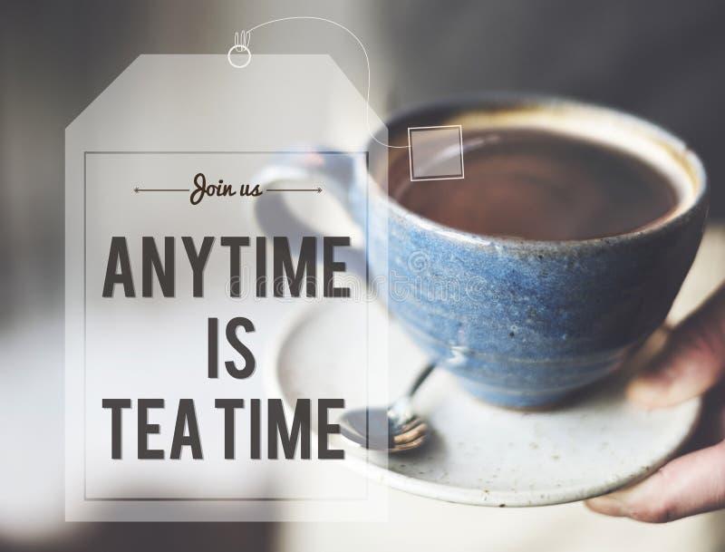 断裂茶咖啡时间放松概念 库存图片