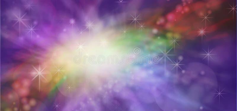 断裂通过紫色阴霾 皇族释放例证