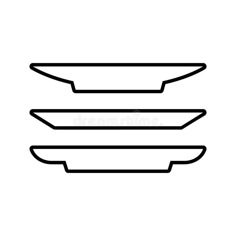 断送象 厨房工具的元素为流动概念和网应用程序象的 网站设计和发展的, app稀薄的线象 皇族释放例证