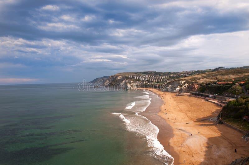 巴斯克国家海滩 免版税库存照片