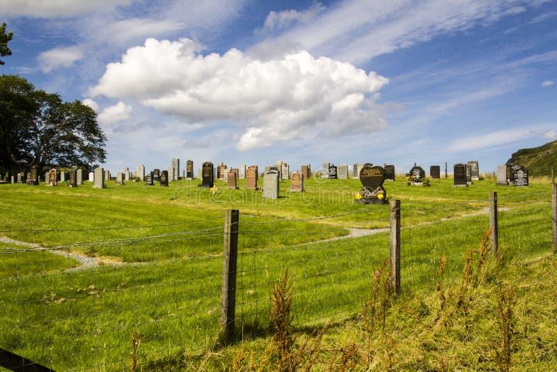 斯凯岛小岛的公墓  免版税库存图片