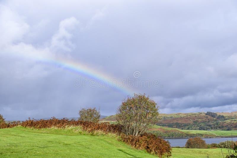 斯凯岛彩虹风景小岛  免版税库存照片