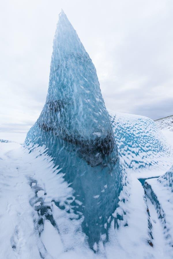 斯卡夫塔费尔冰川和山脉,冰岛瓦特纳霍库尔国家公园 冰岛最大冰川的美好一天 库存图片