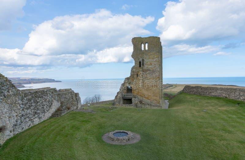 斯卡巴勒城堡,中世纪城堡在斯卡巴勒,英国 库存图片
