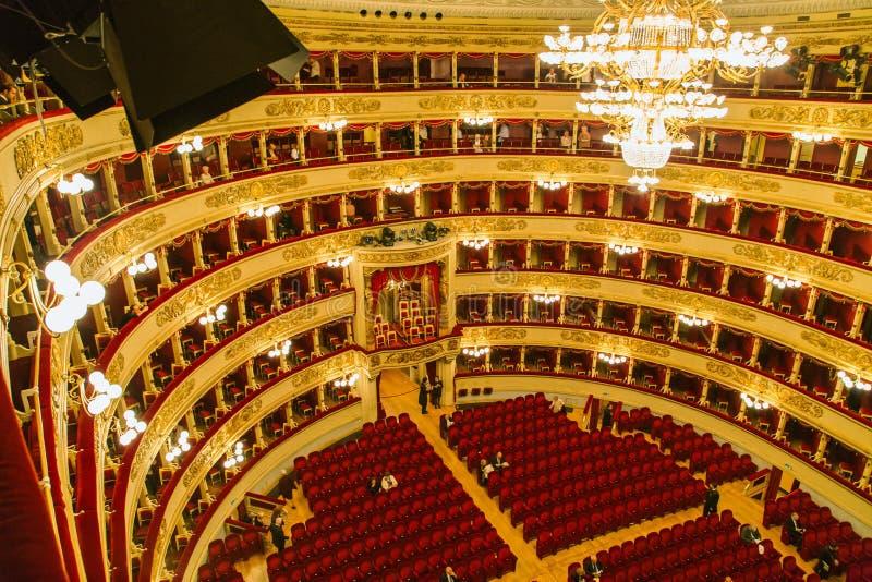 斯卡拉大剧院在米兰 免版税库存照片