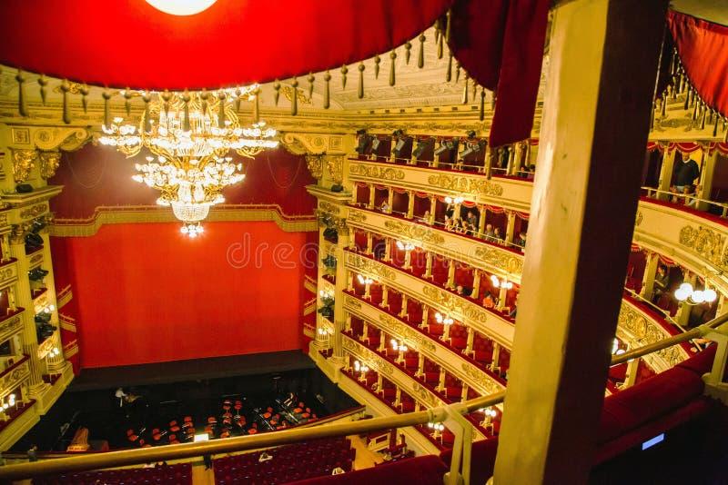 斯卡拉大剧院在米兰 图库摄影