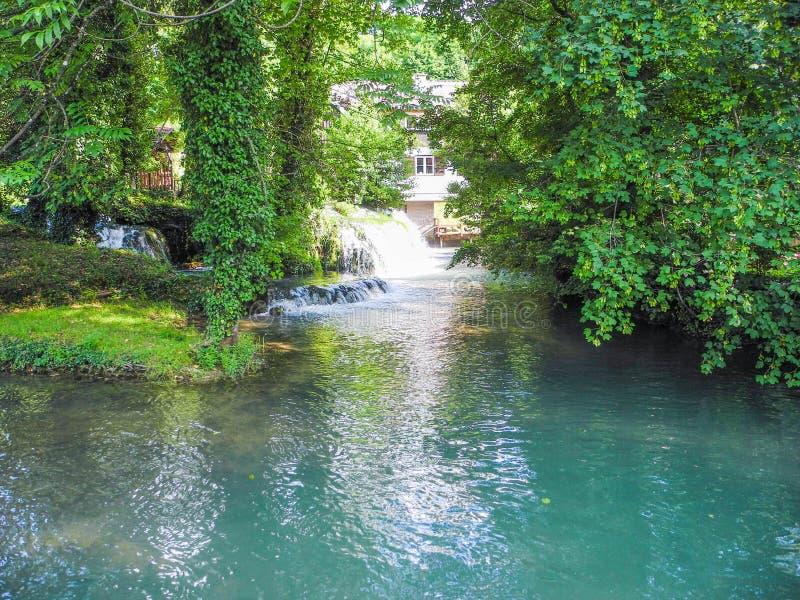 斯卢尼瀑布  库存照片