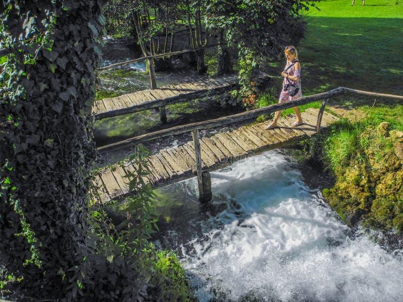 斯卢尼瀑布  库存图片