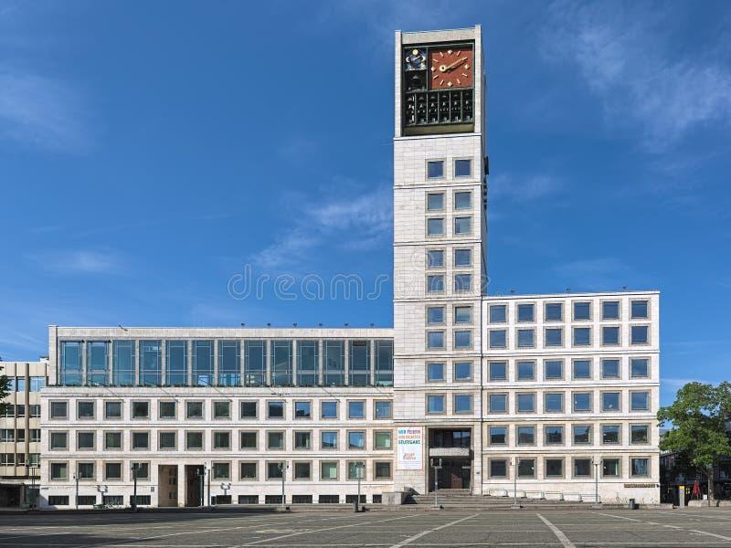 斯图加特城镇厅,德国 免版税库存照片