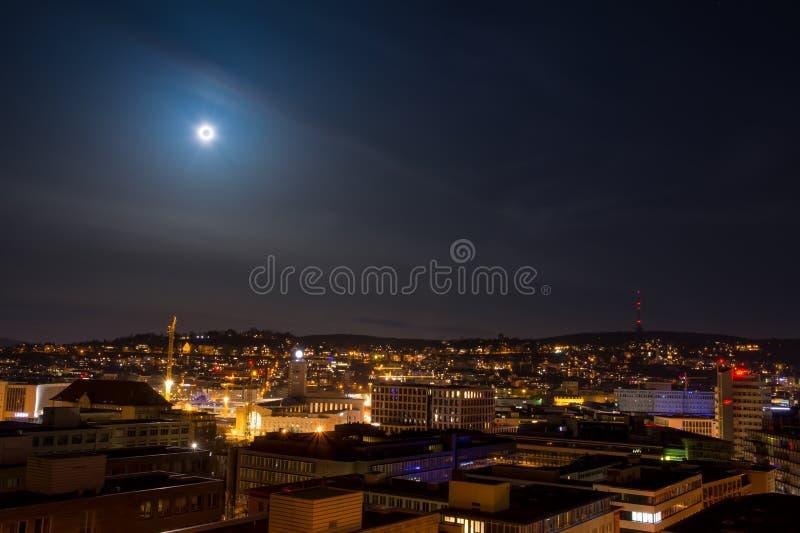 斯图加特都市风景风景首都亚丁乌特姆博格Da 免版税图库摄影