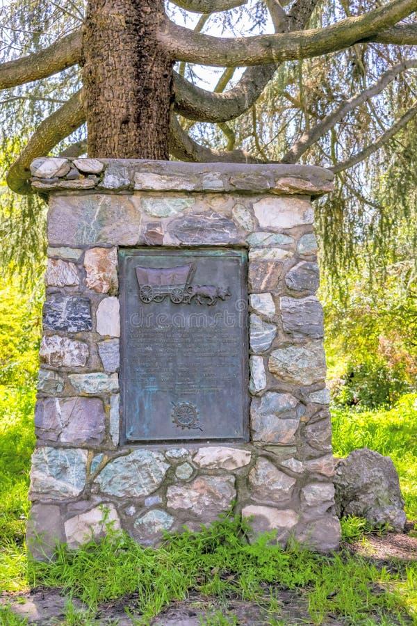 斯坦尼斯劳斯县骑士运送地标 库存照片