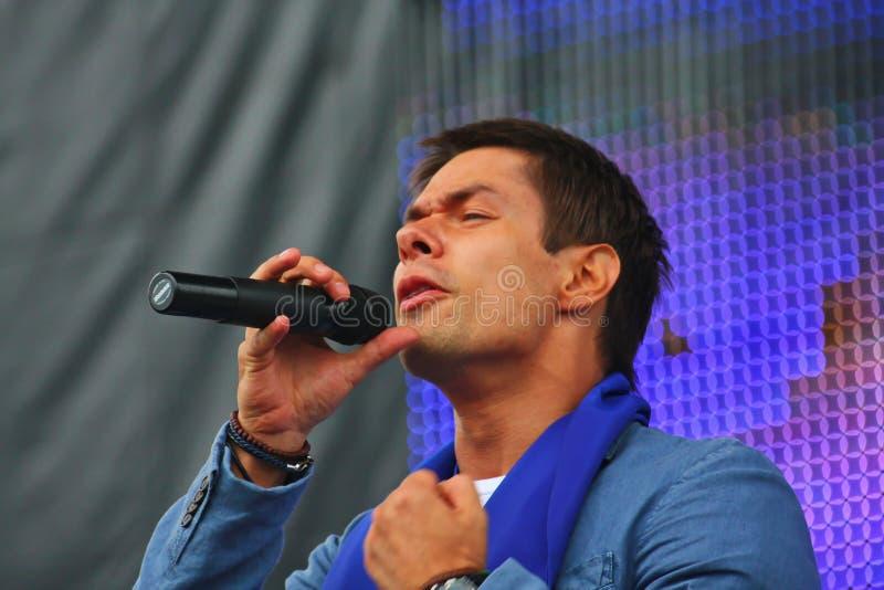 斯坦尼斯拉夫Piatrasovich Piekha (Stas Piekha) —是俄国普遍的歌手和演员和Edita Piekha的孙子 免版税图库摄影