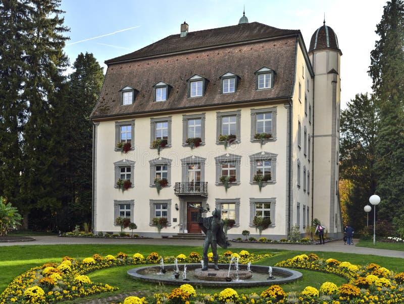 从斯坦市,瑞士的老旅馆 免版税库存照片
