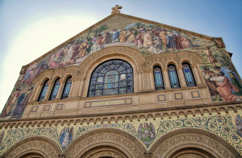 斯坦福纪念教会,史丹福大学校园 免版税库存照片