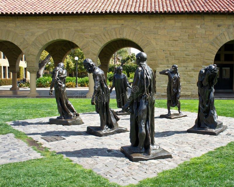 斯坦福雕象大学 免版税图库摄影