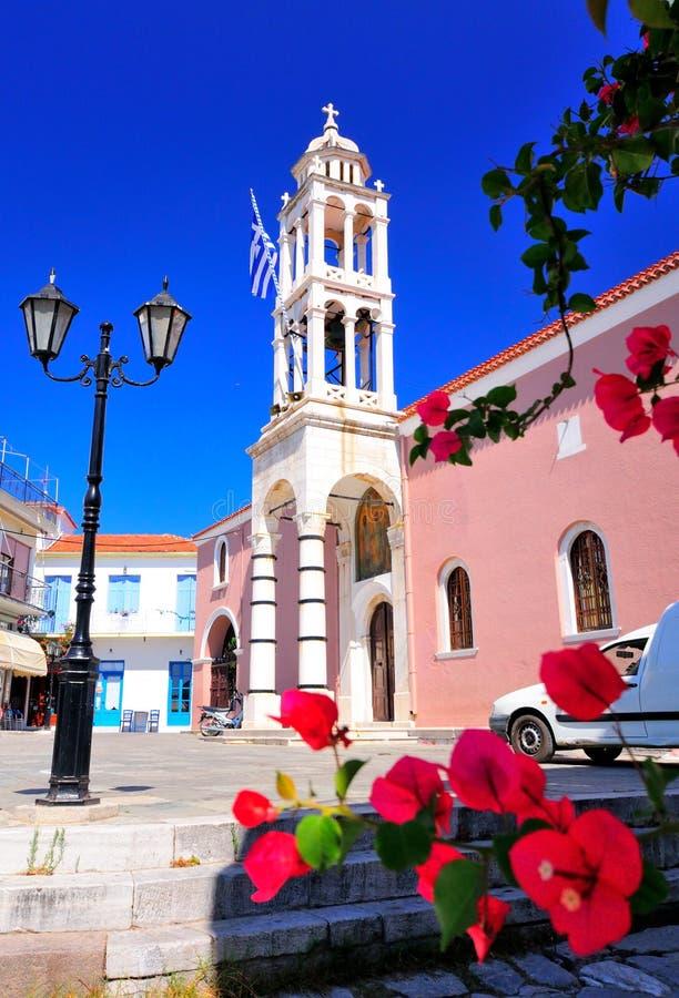 斯基亚索斯岛的,希腊教会 免版税库存照片