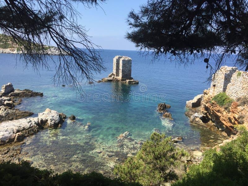 斯基罗斯岛希腊人海岛 图库摄影