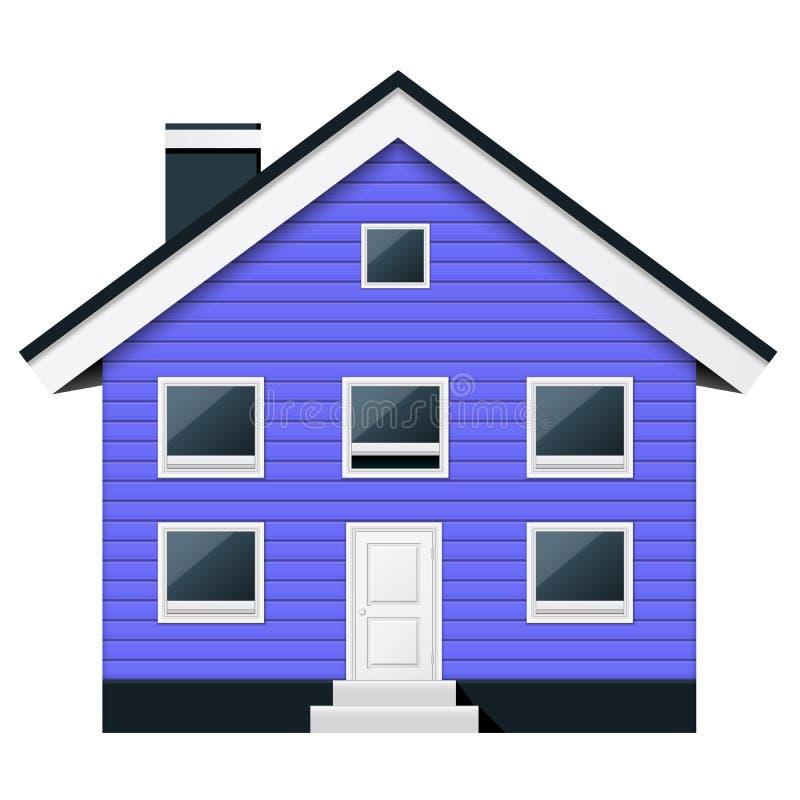 斯堪的纳维亚公寓-郊区连栋房屋 向量例证